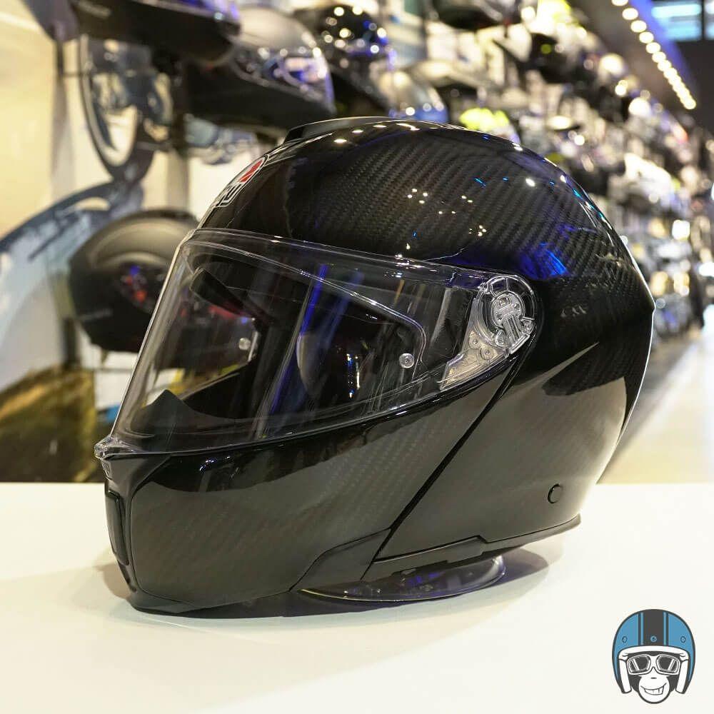 Agv Systeemhelm Sportmodular Glossy Carbon 002