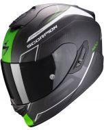 Scorpion EXO-1400 AIR Carbon Beaux Matt White/Green