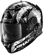 Shark Spartan 1.2 Lorenzo Catalunya GP Black/White/Glitter KWX