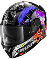 Shark Spartan 1.2 Lorenzo Catalunya GP Black/Red/Glitter KRX