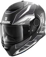 Shark Spartan 1.2 Antheon Matt Black/White/Black KWK