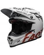BELL Moto-9 Flex Fasthouse WRWF Matt Gloss Wit/Rood