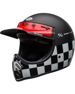 BELL Moto-3 Fasthouse Checkers Matt/Gloss Black/White/Red