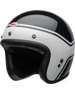 BELL Custom 500 DLX Streak Gloss Black/White