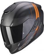 Scorpion EXO-1400 AIR Carbon Drik Matt Balck/Orange