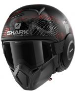 Shark Street Drak Krull Matt Black/Silver/Red KSR