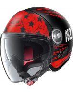 Nolan N21 Visor Jetfire Flat Black/Red 70