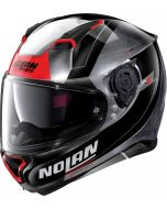 Nolan N87 Skilled N-Com Scratched Chrome/Black/Red 100