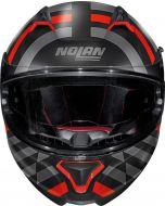 Nolan N87 Shockwave N-Com Flat Black/Red/Grey 104