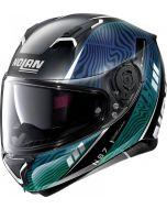 Nolan N87 Sioux N-Com Flat Black/Blue/Green 107