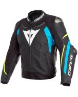 Dainese Super Speed 3 Leather Jacket Black/Fire Blue/Fluo Yellow 07A
