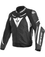 Dainese Super Speed 3 Leather Jacket Black/White/White 318
