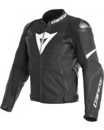 Dainese Avro 4 Leather Jacket Black Matt/Black Matt/White 22A