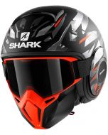 Shark Street Drak Kanhji Matt Black/Orange/Silver KOS