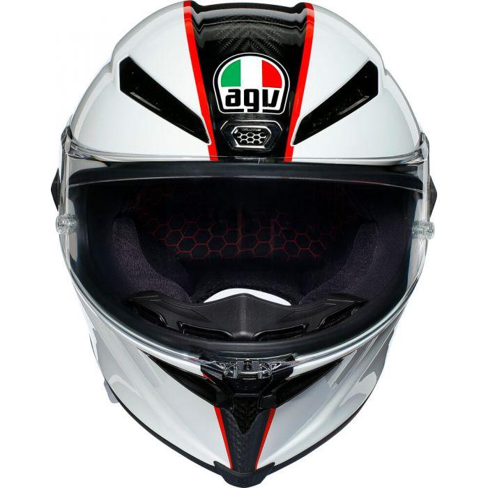 Agv Integraalhelm Pista Gp Rr Scuderia Carbon White Red 002
