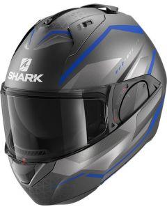 Shark Evo ES Yari Matt Anthracite/Blue/Silver ABS
