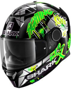 Shark Spartan 1.2 Lorenzo Catalunya GP Black/Green/Glitter KGX