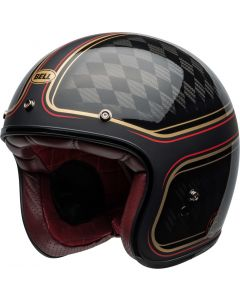 BELL Custom 500 Carbon DLX RSD Checkmate Matt/Gloss Black/Gold