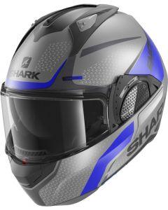 Shark Evo GT Encke Matt Antracite/Blue/Black ABK