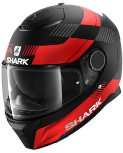 Shark Spartan 1.2 Strad Matt Black/Red/Antracite KRA