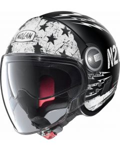Nolan N21 Visor Jetfire Flat Black/White 69