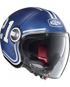 Nolan N21 Visor Quarterbac Flat Imperator Blue/White 85