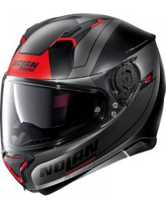 Nolan N87 Skilled N-Com Flat Black/Red 97