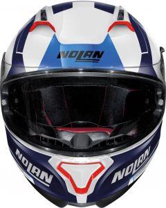 Nolan N87 Skilled N-Com Metal White/Blue 99
