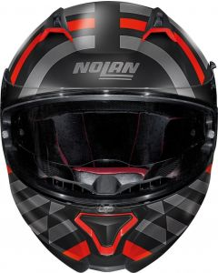 Nolan N87 Shockwave N-Com Flat Black/Red/Grey 104