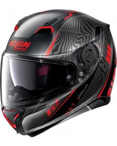 Nolan N87 Sioux N-Com Flat Black/Red 105