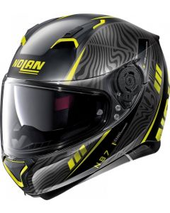 Nolan N87 Sioux N-Com Flat Black/Yellow 106