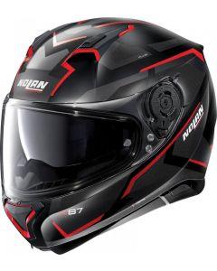 Nolan N87 Plus Overland N-Com Flat Black/Red 31