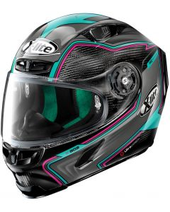 X-Lite X-803 ULTRA CARBON Hangar Black/Turquoise/Red 72