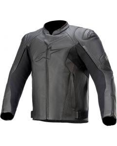 Alpinestars Faster V2 Leather Jacket Black/Black 1100