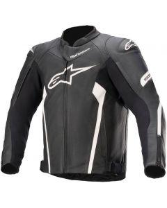 Alpinestars Faster V2 Leather Jacket Black/White 12