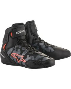 Alpinestars Faster-3 Shoes Black/Gray/Camo/Red/Fluo 9003