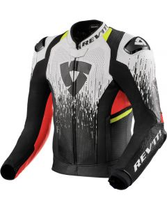 REV'IT Quantum 2 Pro Air Jacket White/Neon Red