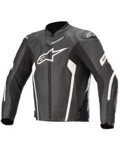 Alpinestars Faster V2 Airflow Leather Jacket Black/White 12
