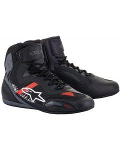 Alpinestars Faster-3 Rideknit Shoes Black Gray/Bright Red 1165