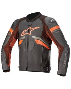 Alpinestars GP Plus R V3 Rideknit Leather Jacket Black/Red/Fluo 1030