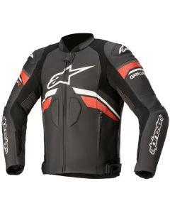 Alpinestars GP Plus R V3 Rideknit Leather Jacket Black/White/Bright Red 1304