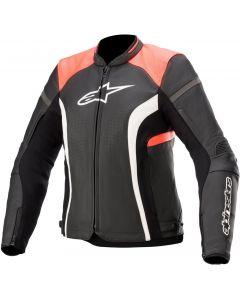 Alpinestars Stella Kira V2 Leather Jacket Black/Coral 1793