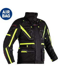 RST Paragon 6 Airbag Jacket Black/Flo Yellow