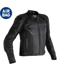 RST Sabre Leather Airbag Jacket Black