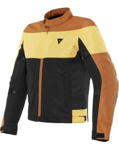 Dainese Elettrica Air Tex Jacket Black/Leather Brown/Mineral Yellow 23F