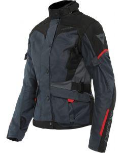 Dainese Tempest 3 D-Dry Lady Jacket Ebony/Black/Lava Red 80E