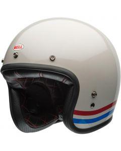 BELL Custom 500 DLX Stripes Pearl White