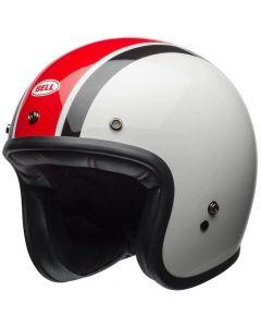 BELL Custom 500 DLX Ace Café Stadium Gloss Silver/Red/Black