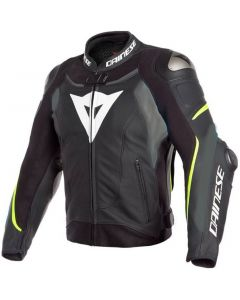 Dainese Super Speed 3 Leather Jacket Black/Matt Grey/Fluo Yellow 47A