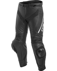 Dainese Delta 3 Leather Trousers Black/Black/White 948